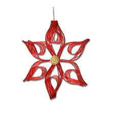 2er-Set Sterne Bangkok, Rot Weihnachtliche Dekorationen aus aktuellen Trendbändern.