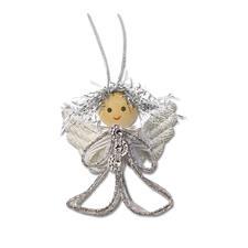4er-Set Engelchen, Silber Weihnachtliche Dekorationen aus aktuellen Trendbändern.