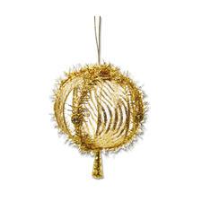 4er-Set Weihnachtkugeln Riga, Gold Weihnachtliche Dekorationen aus aktuellen Trendbändern.
