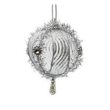 4er-Set Weihnachtkugeln Riga, Silber Weihnachtliche Dekorationen aus aktuellen Trendbändern.