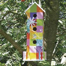 Vogelhaus mit Gartenzaun Vogelhäuser – Zum künstlerischen Gestalten ideal geeignet.