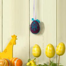 Gefilztes Osterei in 3D Filzideen zu Ostern.