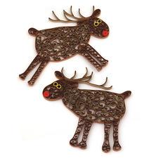 """Quilling Weihnachtsdekoration """"Rentiere"""" Quilling - Zauberhafte Weihnachtsdekorationen aus dünnen Papiersteifen"""