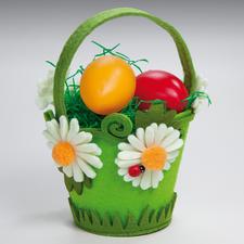 Gestaltungs-Idee, Filz-Körbchen mit Blüten