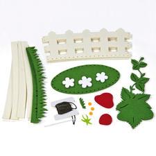 Packungs-Inhalt, Filz-Körbchen mit Erdbeeren