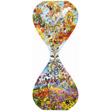 "Puzzle ""Schmetterlinge & Vögel"""