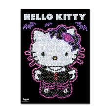 Paillettenbild für Kinder - Hello Kitty Nachtschwärmer Glitzernde Paillettenbilder – ganz einfach gesteckt