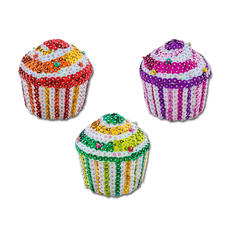"""Komplettpackung """"3D Pailletten Figuren"""", 3 Cupcakes 3D Pailletten Figuren – einfach gesteckt für Groß und Klein."""