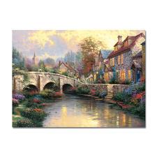 """Puzzle """"Bei der alten Brücke"""" Puzzles nach Kunstwerken von Thomas Kinkade"""