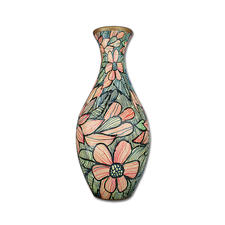 "Puzzle Vase ""Beautiful Flowers"""
