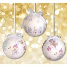 """Stimmungsvolle Weihnachtskugeln """"Wintertime"""""""