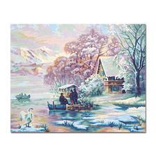 """Malen nach Zahlen """"Winter am Bergsee"""""""