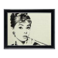 """Gobelinbild """"Audrey Hepburn"""" Legendäre Persönlichkeiten als Gobelinbilder."""