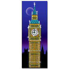 Paillettenbild - Big Ben Das Wahrzeichen von London