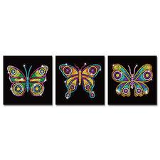 """3 Paillettenbilder im Set """"Schmetterlinge"""""""