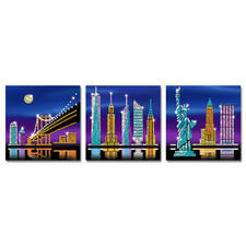 "3 Paillettenbilder im Set ""New York"""