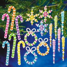 """XXL-Weihnachts-Set """"Bunt"""" Glamouröser Perlen-Weihnachtsschmuck – in Komplettpackungen zum kreativen Selbermachen."""