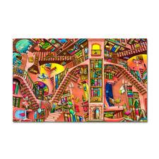 """Puzzle """"The Library"""" nach Colin Thompson Meisterwerke großer Künstler als Puzzle"""