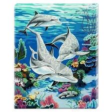 """Malen nach Zahlen """"Delfine"""" Malen nach Zahlen auf Keilrahmen"""