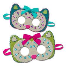 Masken aus Filz Filzen – der beliebte Bastelspaß für Erwachsene und Kinder.