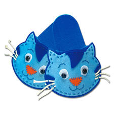 Pantoffeln - Katze aus Filz