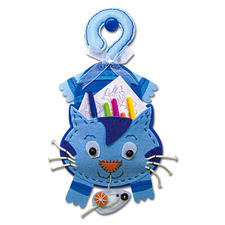 """Hänge-Utensilo """"Katze"""" Filzen – der beliebte Bastelspaß für Erwachsene und Kinder."""