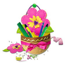 Hänge-Utensilo - Blume aus Filz Filzen – der beliebte Bastelspaß für Erwachsene und Kinder