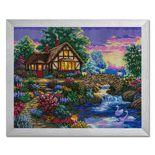 "Diamond Painting ""Haus am Fluss"""