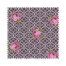 "Stoffzuschnitt ""Fenton House"" Rose Traditionelle Dessins in elegant-kräftigen Farben."