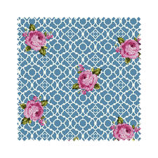 Stoffzuschnitt - Fenton House, Rose Traditionelle Dessins in elegant-kräftigen Farben.