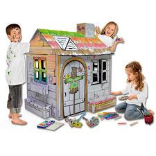 XXL-Spielhaus - Gartenhäuschen XXL-Spielhäuser zum Bemalen und Spaßhaben.
