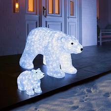 Deko LED-Eisbär oder LED-XXL-Polarbär Glitzernd wie Eis. Und auf Wunsch sensationell illuminiert.