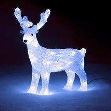 Deko LED-Rentier Glitzernd wie Eis. Und auf Wunsch sensationell illuminiert.