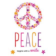 """Bügelbild """"Peace"""""""