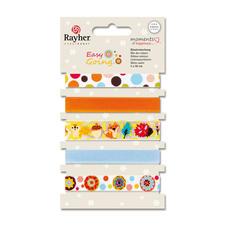5er-Set bunte Stoffbänder Bunte Stoffbänder in fröhlichen Farben