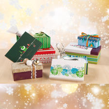 6 dekorative Geschenkboxen im Set
