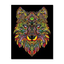 """Samtbild """"Wolf"""" Samtbilder zum Ausmalen."""