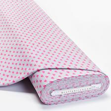 Meterware Baumwoll-Jersey - Herzen Baumwoll-Jersey – Der ideale Stoff für bequeme Shirts, Kleider und Kindermode.