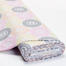 """Meterware Baumwoll-Jersey """"Rauten-Mandala"""" Baumwoll-Jersey – Der ideale Stoff für bequeme Shirts, Kleider und Kindermode."""
