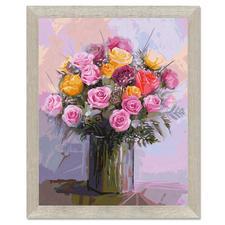 Malen nach Zahlen - Rosenstrauß in Pastell Malen nach Zahlen.