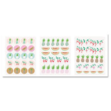 "Sticker ""Ananas"", 120 Stück im Set."