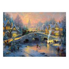 Puzzle - Winterliches Dorf Puzzles nach Kunstwerken von Thomas Kinkade.