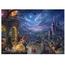 Puzzle - Disney, Die Schöne und das Biest - Tanz im Mondlicht Puzzles nach Kunstwerken von Thomas Kinkade