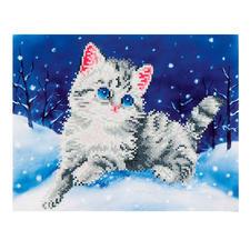 Diamond Dotz - Kätzchen im Schnee Diamont Dotz®: Steinchen für Steinchen zum spektakulären Ergebnis.