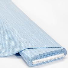 Meterware - Baumwoll-Jersey, Streifen Hellblau Baumwoll-Jersey – Der ideale Stoff für bequeme Shirts, Kleider und Kindermode.