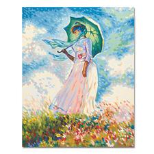 Malen nach Zahlen - Frau mit  Sonnenschirm nach Claude Monet Malen nach Zahlen.