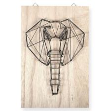 String Art - Elefant String Art: Die trendige Methode für kunstvolle Unikate.