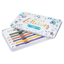 Handlettering Watercolor mit Metalldose