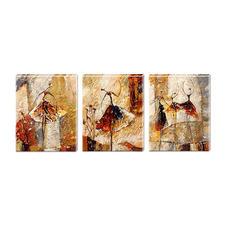 """Malen nach Zahlen """"Triptychon Abstract Woman"""" Malen nach Zahlen auf Keilrahmen"""