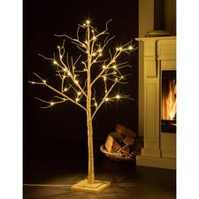 LED Deko-Baum Romantisch leuchtende Glitzerbäume – prachtvoll wie aus dem Märchenwald.